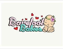 MaxMi tarafından Colour or Re-design Logo for Barefoot Babies Boutique için no 15