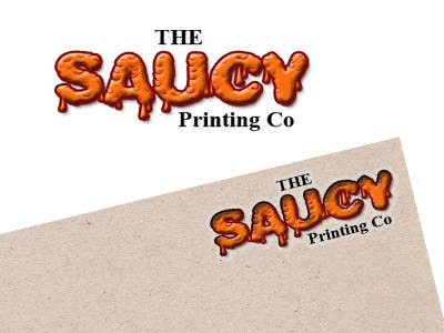 """Konkurrenceindlæg #                                        8                                      for                                         Design a Logo for """" The Saucy Printing Co. """""""