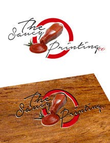 """creativedesires tarafından Design a Logo for """" The Saucy Printing Co. """" için no 10"""