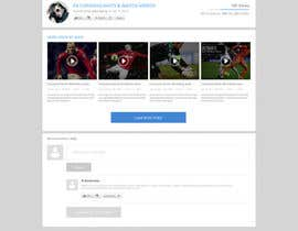 #18 for Design a Website for Sports Skills Video Uploading Site by pradeep9266