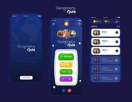 """nº 161 pour Reskin App Design for """"Geography Quiz"""". Contest winner will be awarded full project. par sudpixel"""