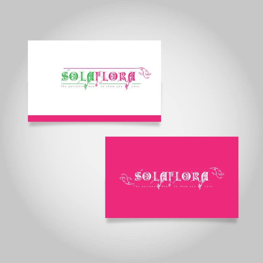 Konkurrenceindlæg #                                        70                                      for                                         Design a Logo for flower shop called sola flora
