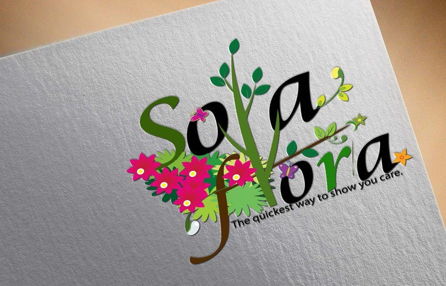 Konkurrenceindlæg #                                        98                                      for                                         Design a Logo for flower shop called sola flora