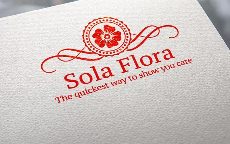 Konkurrenceindlæg #                                        113                                      for                                         Design a Logo for flower shop called sola flora