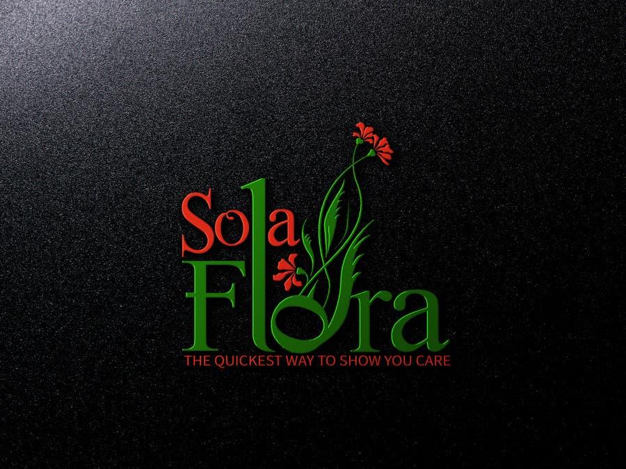 Konkurrenceindlæg #                                        41                                      for                                         Design a Logo for flower shop called sola flora