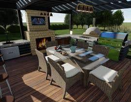 Nro 12 kilpailuun Design outdoor Patio area with kitchen käyttäjältä bhanikpp