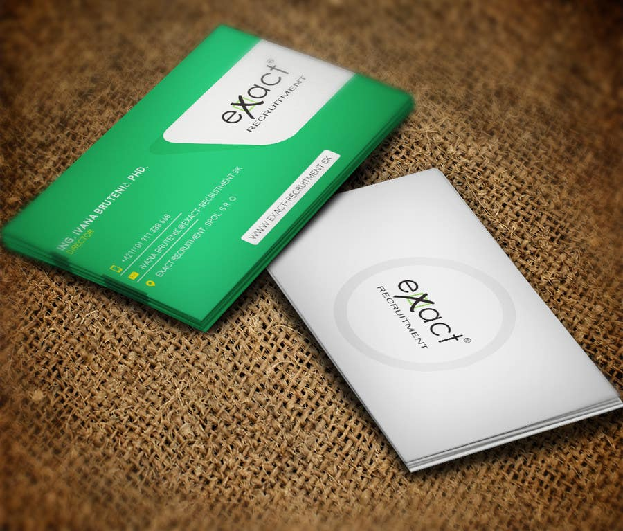 Konkurrenceindlæg #                                        12                                      for                                         Design Business Cards for Recruitment company