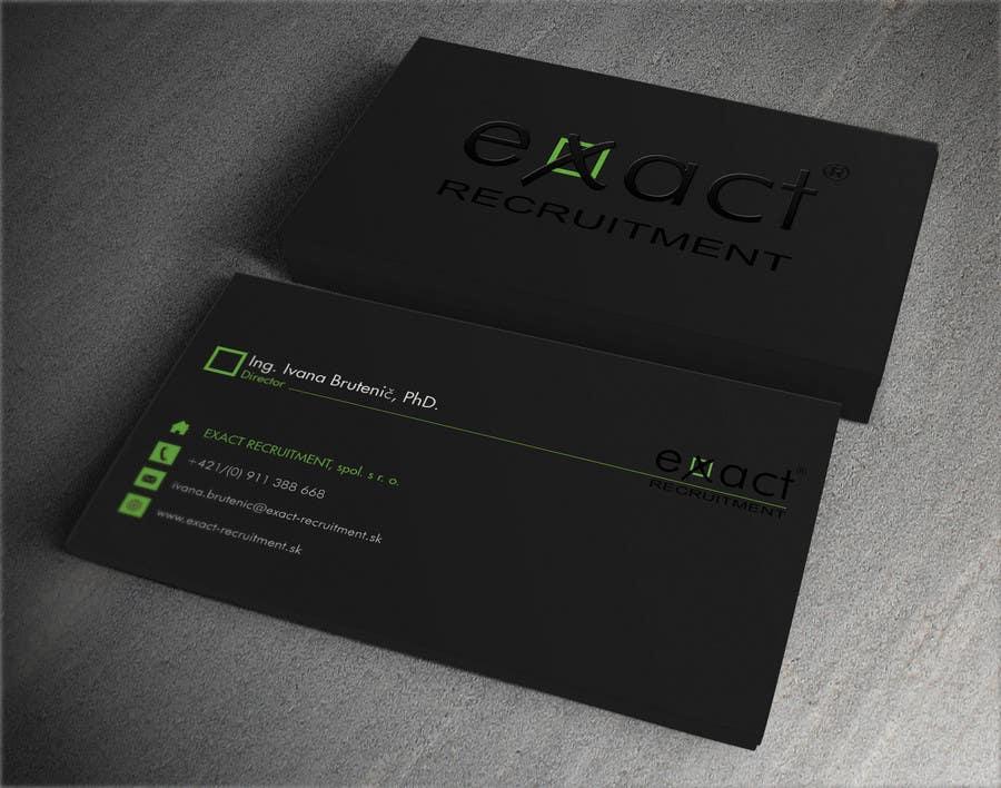Konkurrenceindlæg #                                        64                                      for                                         Design Business Cards for Recruitment company