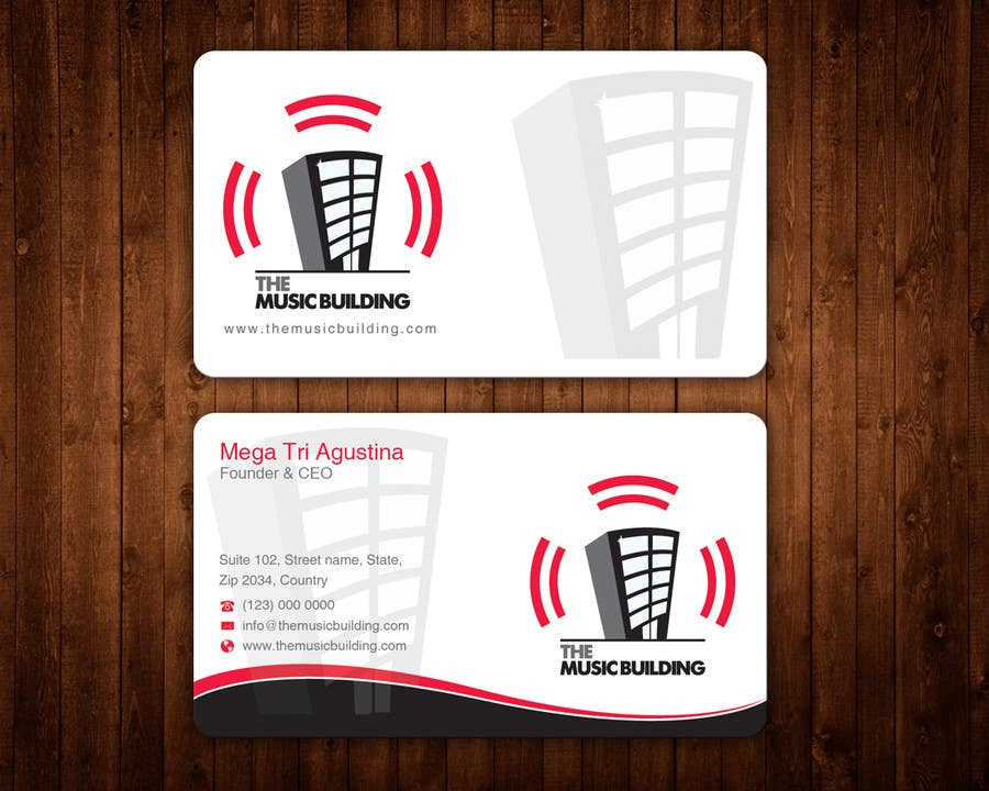 Contest Entry #                                        60                                      for                                         Design some Business Cards for The Music Building