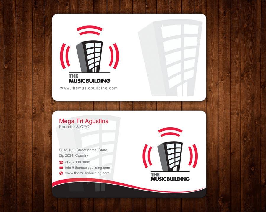 Penyertaan Peraduan #60 untuk Design some Business Cards for The Music Building