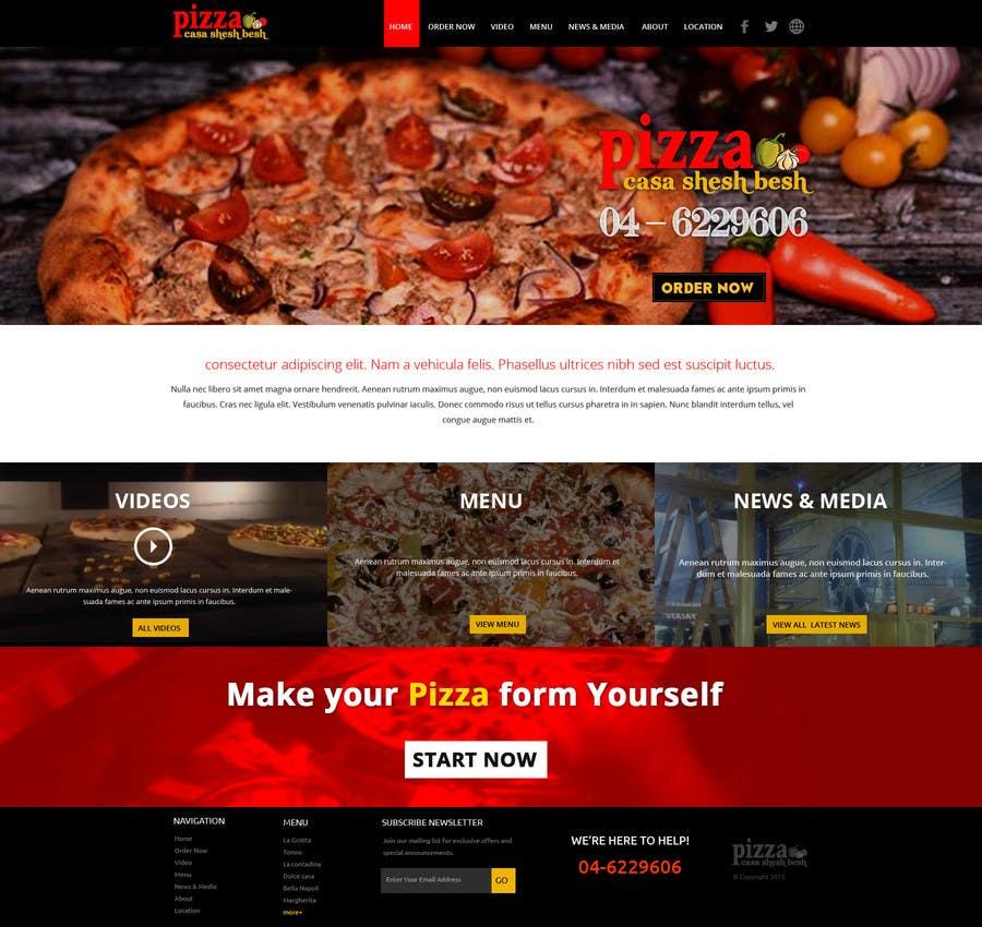 Proposition n°                                        4                                      du concours                                         Design a Website Mockup for a pizzeria restaurant