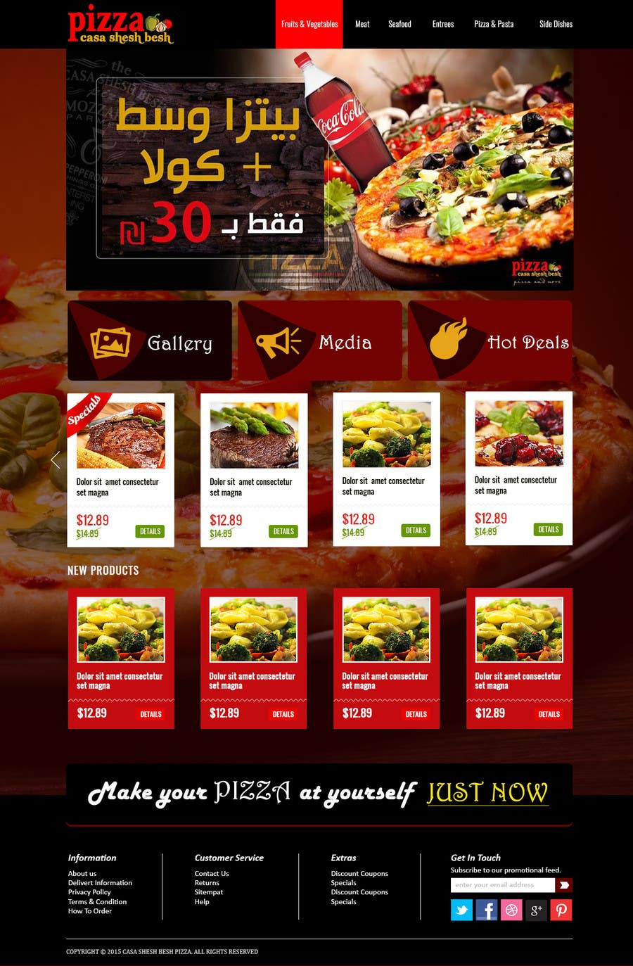 Proposition n°                                        9                                      du concours                                         Design a Website Mockup for a pizzeria restaurant
