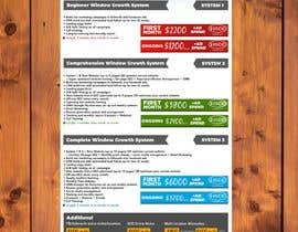 nº 33 pour Need this package pricing table turned into a professional looking and printable document par SebiSebi