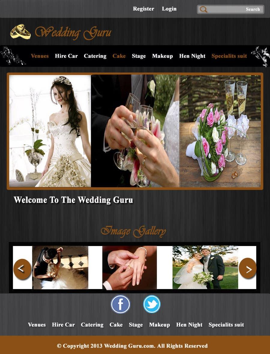 Bài tham dự cuộc thi #12 cho Website Design for Wedding Guru