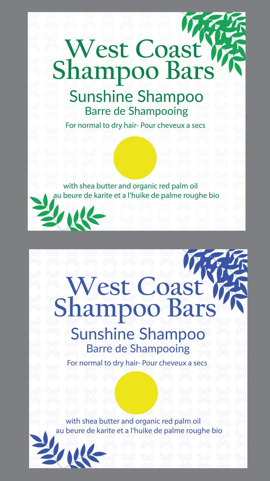 Bài tham dự cuộc thi #                                        4                                      cho                                         I need design help for packaging for shampoo and conditioner bars