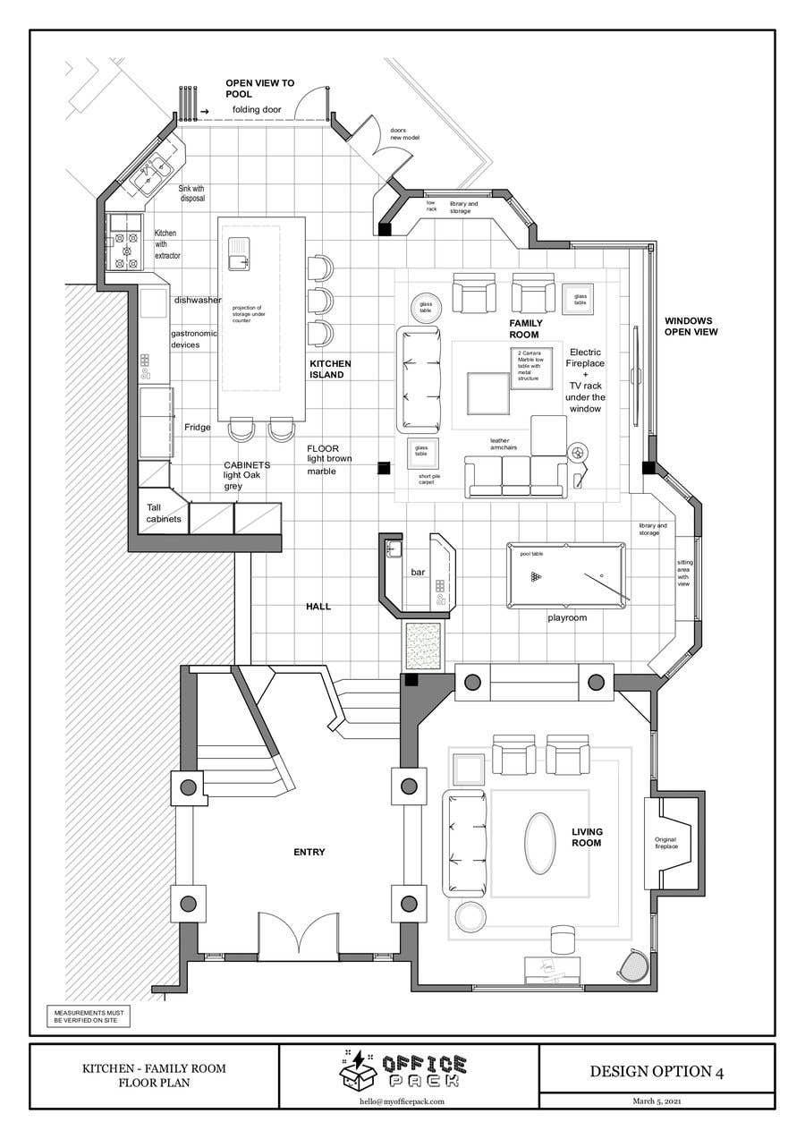 Konkurrenceindlæg #                                        42                                      for                                         Floor plan Redesign