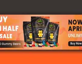 #94 for Banner for Buy 1 Get 1 Half Off  Sale on CBD Gummies by arifhossen21
