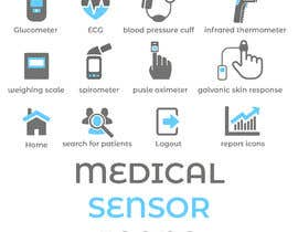 #12 untuk Medical Sensor Icons oleh ShahbazAziz01