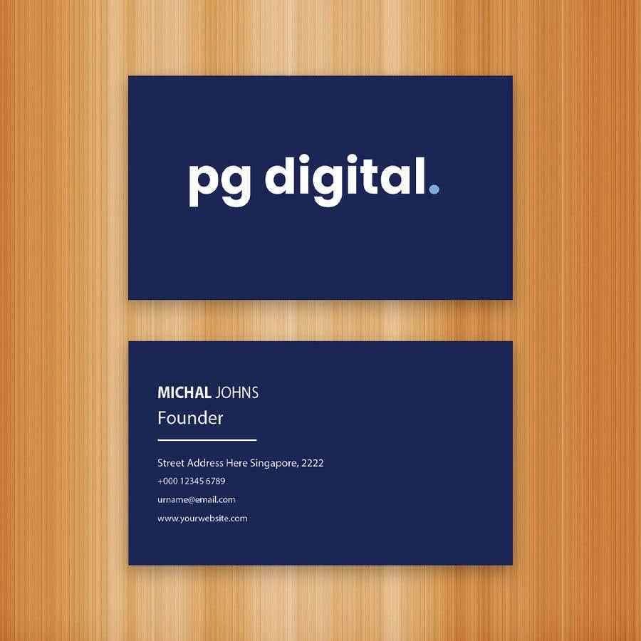 Bài tham dự cuộc thi #                                        121                                      cho                                         Business Card Design - PG