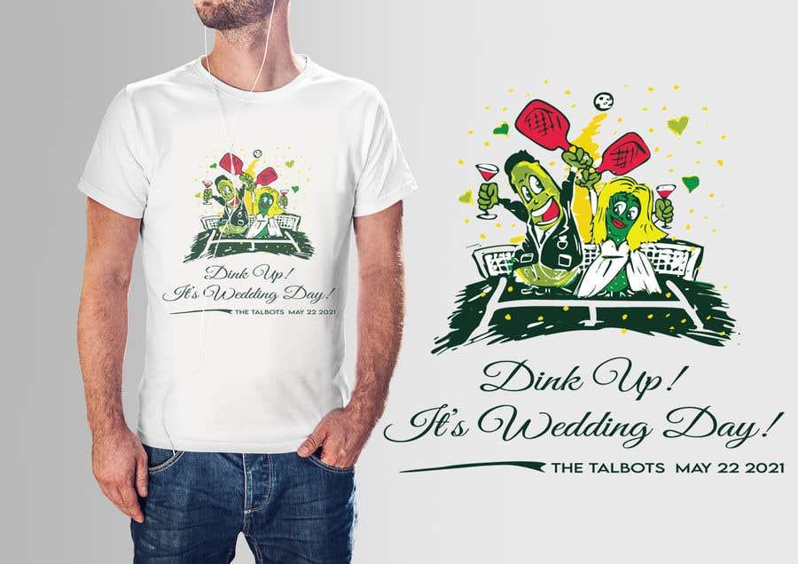 "Intrarea #                                        80                                      pentru concursul ""                                        Pickle Ball Wedding T Shirt Logo                                     """