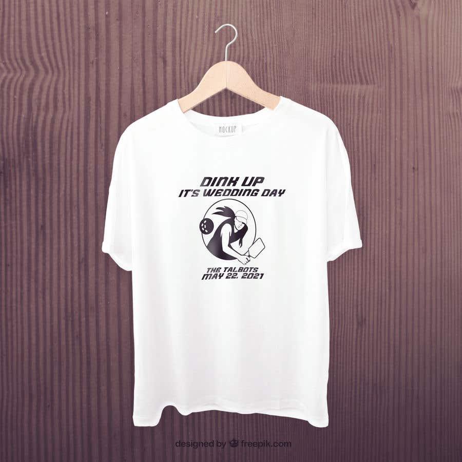 "Intrarea #                                        21                                      pentru concursul ""                                        Pickle Ball Wedding T Shirt Logo                                     """