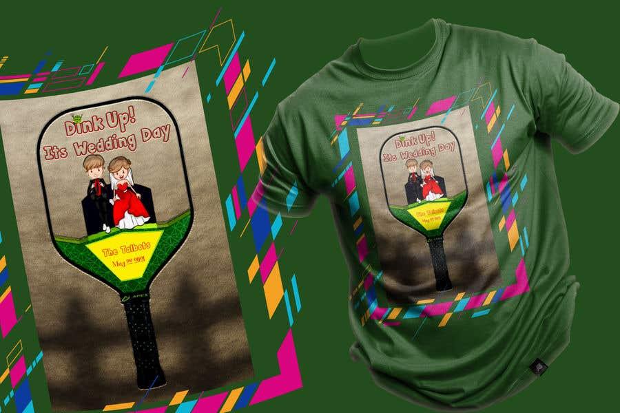 "Intrarea #                                        19                                      pentru concursul ""                                        Pickle Ball Wedding T Shirt Logo                                     """