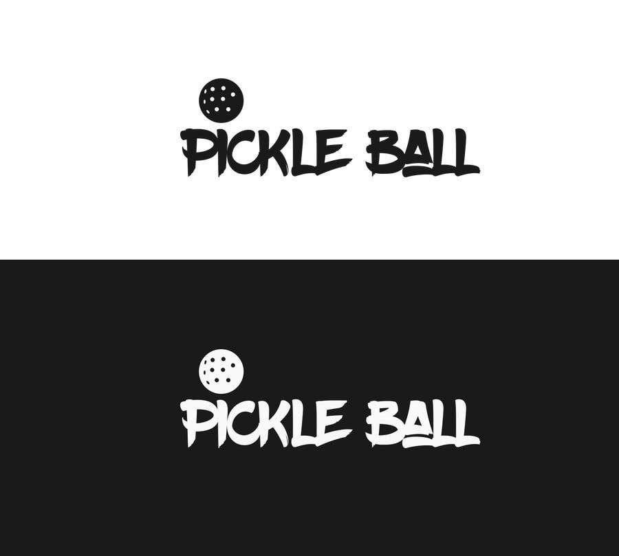 "Intrarea #                                        23                                      pentru concursul ""                                        Pickle Ball Wedding T Shirt Logo                                     """