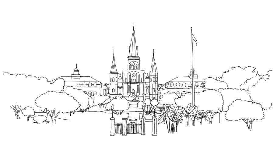 Inscrição nº                                         8                                      do Concurso para                                         Hand drawn coloring page