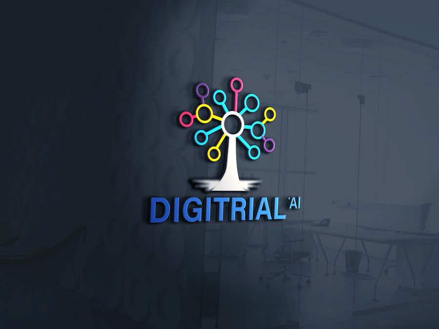 Penyertaan Peraduan #                                        86                                      untuk                                         Logo improvement for digitrial.ai