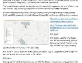 Nro 30 kilpailuun Market Research BITCOIN käyttäjältä sanjay240279