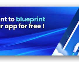 """#20 untuk A banner for my profiles that says """"I want to blueprint your app for free!"""". Make it interesting and clean. The final files must be sized for Facebook, LinkedIn and Twitter. Also include the company web address: theappguys.come oleh sakibahmed33"""
