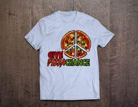 #28 for Artistic T-Shirt Design, Give Pizza Chance af istykristanto