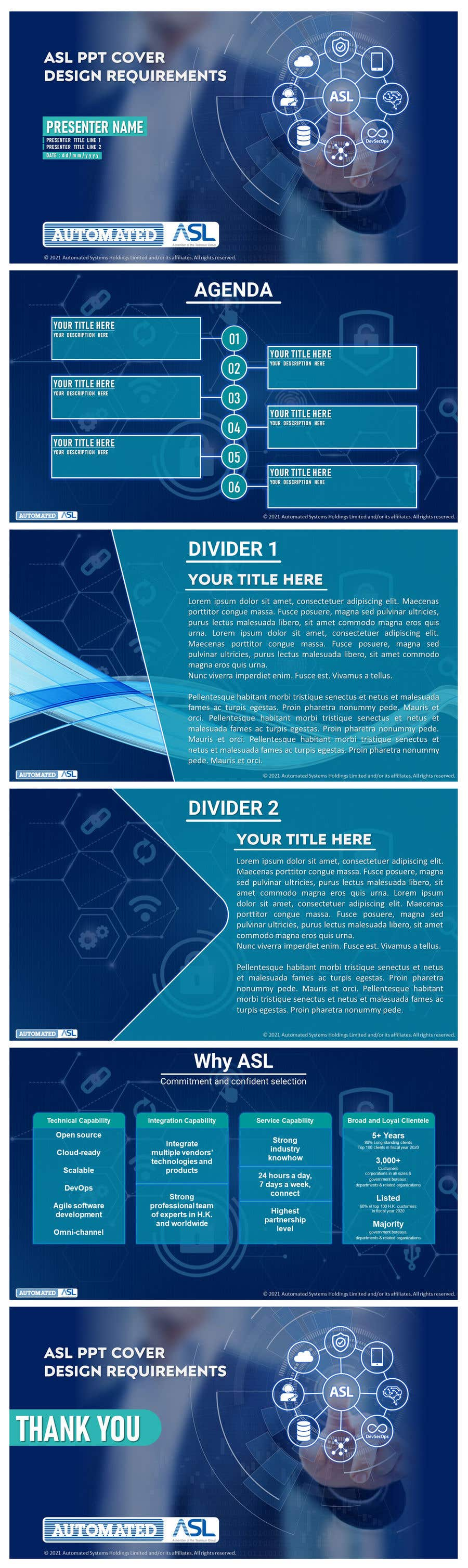 Bài tham dự cuộc thi #                                        35                                      cho                                         Corporate PPT Template Design (6 slides)