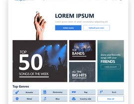 #123 cho Home Page redesign for Music Website bởi himanshubhatti20