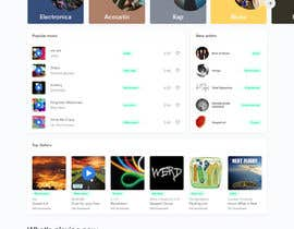 #124 cho Home Page redesign for Music Website bởi Dina2806