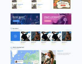 #125 cho Home Page redesign for Music Website bởi aliul