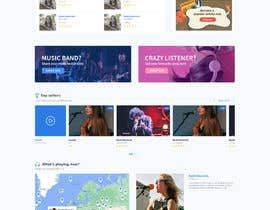 #128 cho Home Page redesign for Music Website bởi aliul
