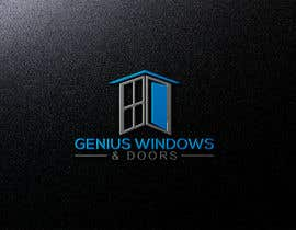 #77 untuk I need logo and business card design my company name genius windows & doors I need it in photoshop file that I will edit later I need some design that will be green and money savings with the genius idea or any new windows design oleh hm7258313