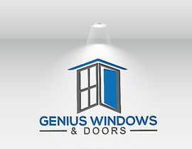 #78 untuk I need logo and business card design my company name genius windows & doors I need it in photoshop file that I will edit later I need some design that will be green and money savings with the genius idea or any new windows design oleh hm7258313