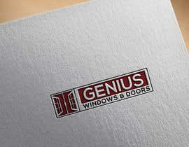 #98 untuk I need logo and business card design my company name genius windows & doors I need it in photoshop file that I will edit later I need some design that will be green and money savings with the genius idea or any new windows design oleh moyeazzem