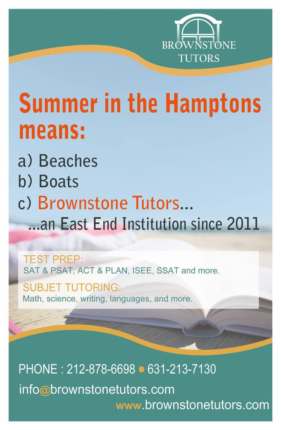 Konkurrenceindlæg #2 for Advertisement Design for Brownstone Tutors
