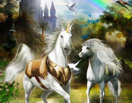 #34 for Illustrate Something for Unicorn Kingdom cover by dienel96
