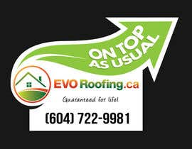 #14 para Lawn sign for Roofing company por Jun01