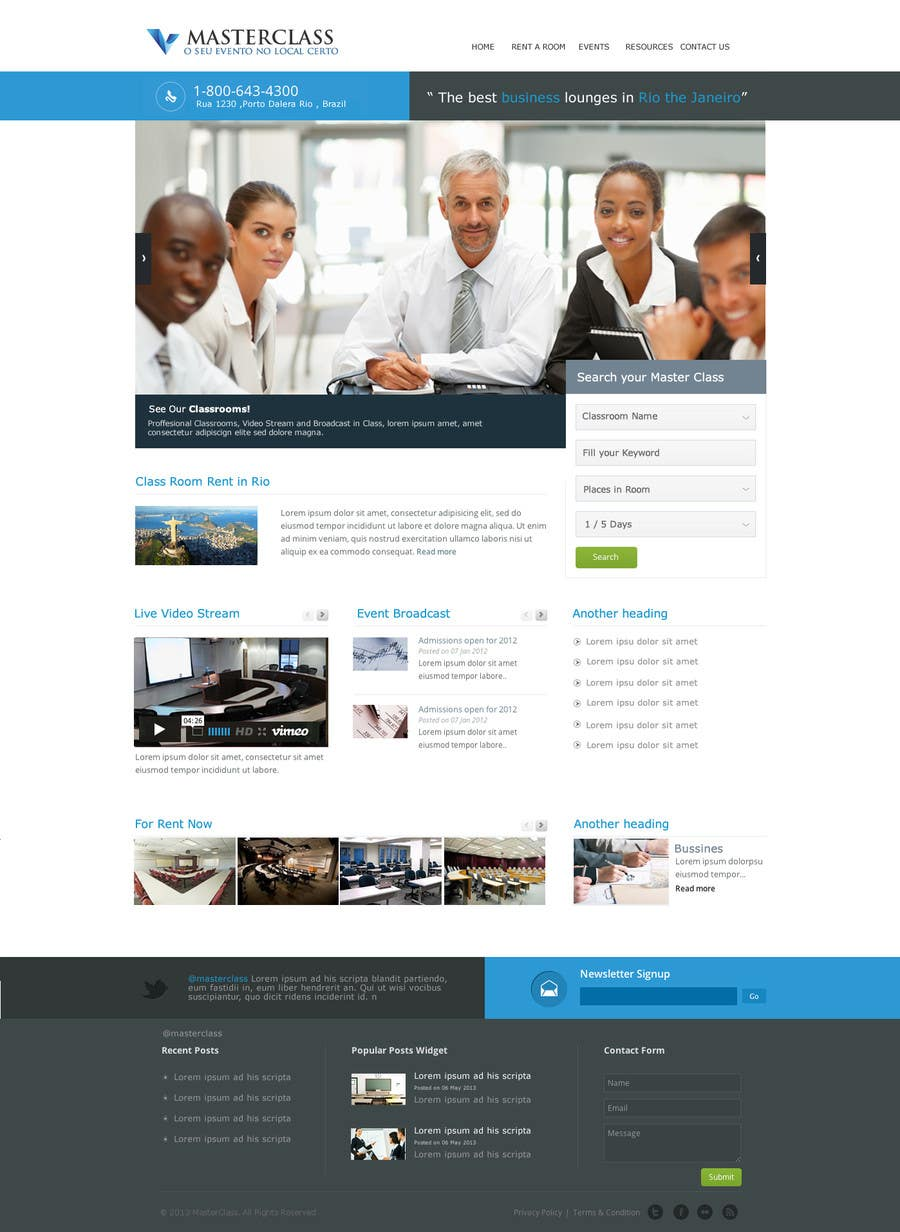 #9 for Wordpress Theme Design for MasterClasse by holaestudio