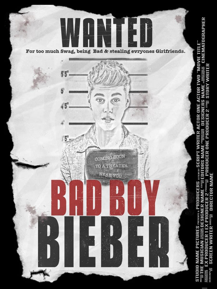 #105 for Design a poster for Gangster @JustinBieber, #BadBoyBieber! by brandonLee24