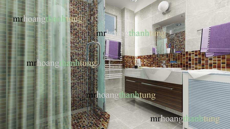 Proposition n°                                        15                                      du concours                                         Design & Render 5 square meter bathroom.