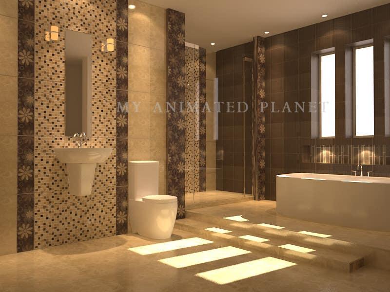 Proposition n°                                        1                                      du concours                                         Design & Render 5 square meter bathroom.