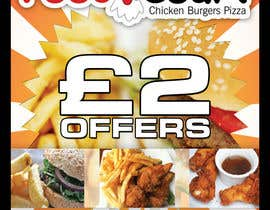 #45 cho Poster design for £2 offers in fast food restaurant bởi jbdesignIrl