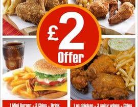 #34 untuk Poster design for £2 offers in fast food restaurant oleh designart65