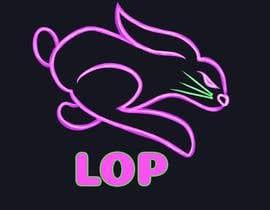 #100 para Conejo en colores neón Logo para empresa de pizza de Keryky